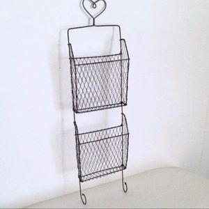 Other - Farmhouse Black Wire Hanging Letter Organizer